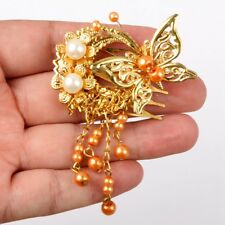 [PF] 699#ooak Chinese Classical Butterfly Ancient Hairpin 1/3 SD AOD DZ Bjd