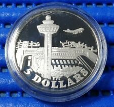 1981 Singapore Changi Airport Commemorative $5 Silver Proof Coin
