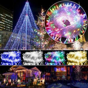 100-500LED Waterproof Christmas Fairy String Lights Wedding Garden Outdoor Decor