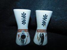 N. Leontaritis Porcelain Greek Greece Salt Pepper Shakers