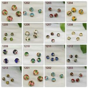 Multi Size Vintage Round Spacer Cloisonne bracelet Handmade Beads DIY Jewelry
