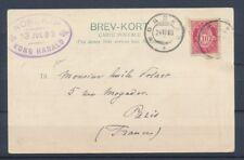 1903 Norvege CP à 10 ore obl NORKAP/KONG HARALD Superbe P4509