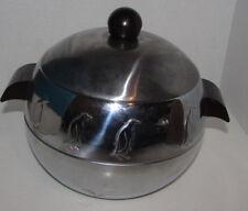 Vintage WEST BEND Penguin Hot & Cold Server Bakelite Handles Chrome Ice Bucket