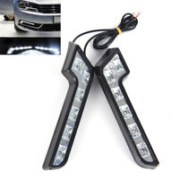 2 x Helle 6LED Super White Auto Driving Lampe Nebel 12V DRL Tagfahrlicht WCH