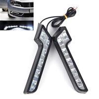 2x Bright 6LED Super White Car Driving Lamp Fog 12V DRL Daytime Running Light WL