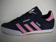 Adidas Originals Samba Super Blue Suede CUSTOM Pink Stripes (UK 8) BNIB