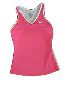 NWOT Nike Dri Fit Women's Size XS Pink/White Color Athletic Tank Top