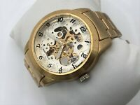 Emporio Armani Men Watch Automatic Gold Tone Moda Italia Analog Wrist Watch
