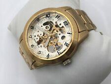Emporio Armani Men Watch Automatic Gold Tone Moda Italia Analog Wrist Watch