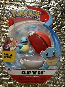 RARE SQUIRTLE Pokemon Clip 'n' Go Poke Ball Action Figure Toy BATTLE FIGURE