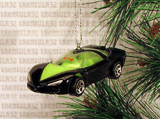 PONTIAC BANSHEE CONCEPT CAR BLACK YELLOW/GREEN CHRISTMAS ORNAMENT XMAS