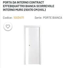 PORTA DA INTERNO CONTRACT EFFEBIQUATTRO BIANCA SCORREVOLE INTERNO MURO 210X70 CM