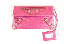 Balenciaga Giant Envelope Clutch with SHW in Bubble Gum Pink