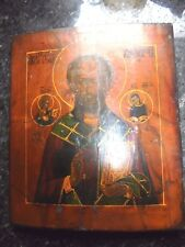 RARE GENUINE RUSSIAN ICON ANTIQUE NOT REPRODUCTION POSSIBLY ST NICHOLAS