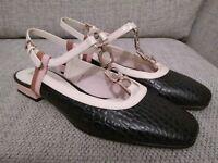Orla Kiely Clark's, Barbara Navy Blue Leather Shoes, UK 4.5, EUR 37.5, Vintage