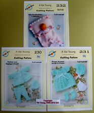 "2 DOLLS KNITTING PATTERNS  16/""-18/"" inch doll 234//235 for Anabell by DM Val Young"