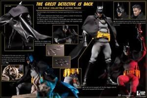 "NOIR TOYZ 1/12 DC BATMAN GOTHAM BY GASLIGHT DELUXE 6"" ACTION FIGURE NEW IN HAND"