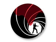 "Pin Button Badge Ø25mm 1"" Logo James Bond 007 Cinema Movie"