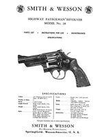 Smith & Wesson Model 28 Highway Patrolman Instructions