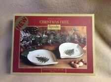 "NIB Set 2 Spode China Ornament Shaped Dishes~Christmas Tree~7"" XT8252-XP"