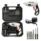 Cordless Drill Driver Rechargeable Electric Screw Drill Repair Tools Set US NiCd