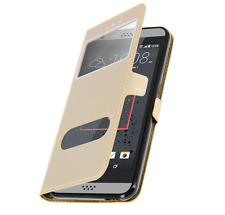 Etui Housse Coque Pochette Double Fenetre Flip HTC Desire 820 - OR