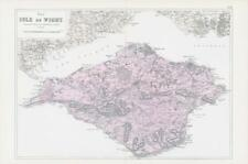 More details for 1883 large map of the isle of wight ordnance survey by bacon (bo97)