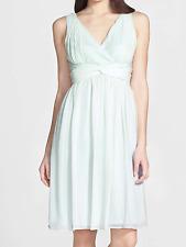 NWT  Donna Morgan 'Jessie' Twist Silk Chiffon Dress HINT OF MINT Sz 18  RT$189