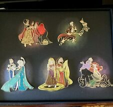 Disney Store D23 Expo 2015 Fairytale Heroes and Villains Designer LE 5 Pin Set