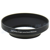 JJC 55mm Metal Wide Angle Lens Hood for Canon Nikon Pentax Olympus Sony Camera