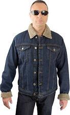 Jeansjacke Oldschool Rockabilly Teddyfell wool Country Western Denim 50er style
