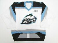 ALASKA ACES ECHL WHITE AUTHENTIC PRO REEBOK HOCKEY JERSEY SIZE 54