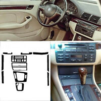Interior Center Console Carbon Fiber Molding Sticker Decals For BMW 3 Series E46