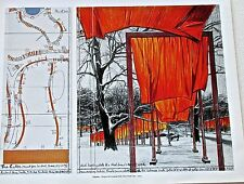 Christo & Jean-Claude  The Gates of Central Park Project Poster 4 14x11