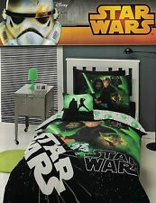 "STAR WARS ""RETURN OF THE JEDI"" SKYWALKER VADER QUILT COVER SET QUEEN/CUSHION NEW"