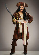 Adult Mens Jack Sparrow Style Caribbean Pirate Costume DOES NOT INCLUDE WIG