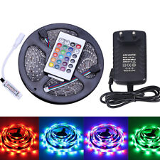 5M 2835 RGB Waterproof LED Strip Light + 24key  Controller+12V 2A Power Supply