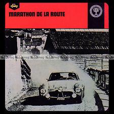 #67.18 MARATHON DE LA ROUTE (Photo RALLYE LIEGE-ROME-LIEGE) Fiche Auto Car Card