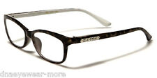 New DG EYEWEAR Reading Glasses 2.00 Women Black Clear With FREE Pouch R2022A200