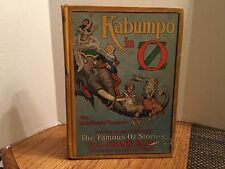 Kapumbo In Oz By Ruth Plumly Thompson 1922 Edition Rare Yellow Cover