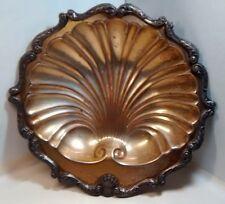 English Silver Mfg. Corp. vintage Silverplate Shell Platter Dish Mid Century
