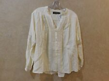 ANTIK BATIK  Top Ivory Crochet Tunic Blouse  NWT ______________ R9E4