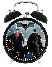 "Superman Batman Alarm Desk Clock 3.75"" Home or Office Decor E111 Nice For Gift"