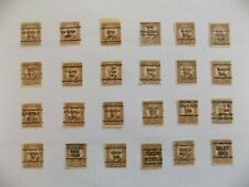 US Coll'n of (24) all Diff't cities PRECANCEL DEF.-10-8-1 1/2 cent Harding