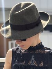 Vintage Borsalino Alessandria Felt Fedora Hat Made in Italy Olive Green Sz 7 3/8