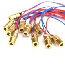 10PCS 650nm 6mm 3V 5mW Laser Dot Diode Module Red Copper Head Mini Pointer