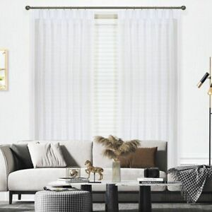 Clearance - Curtain Wonderland Blizzard Sheer Pinch Pleat Curtains