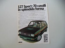 advertising Pubblicità 1978 FIAT 127 SPORT 70 HP