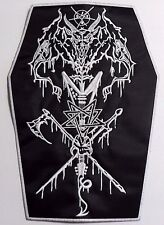 HELLHAMMER  EMBROIDERED coffin BACK PATCH