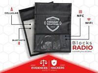 FARADAY Solutions XL Large Faraday Bag | X2 Shielding Anti-hacking | Anti-Spying